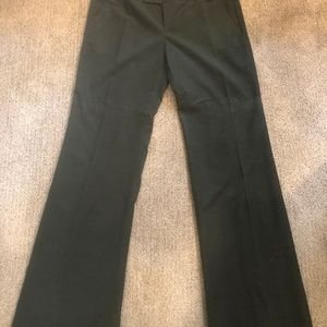 Halogen Wide Leg Forest Grn Brushed Courduroy Pant